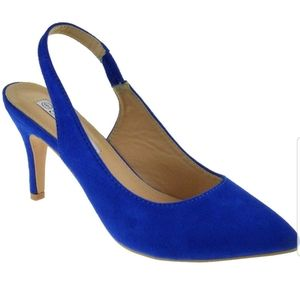 Forever link blue suede pumps